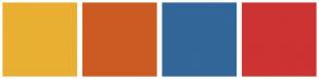 Color Scheme with #E9AF32 #CC5B23 #336699 #CC3333