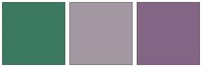 Color Scheme with #3B7A61 #A399A3 #836685