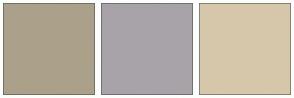 Color Scheme with #ABA18A #A8A3A8 #D6C7AB