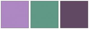 Color Scheme with #AD88C2 #609985 #624963