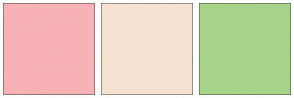 Color Scheme with #F7B2B6 #F5E2D0 #A7D48A