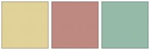 Color Scheme with #E0D299 #BD8980 #95BAA8