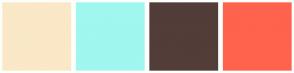Color Scheme with #FAE8C6 #9FF7EF #523D39 #FF634D