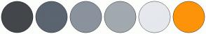 Color Scheme with #43474B #5A6571 #8A939D #A2A9AF #E5E8ED #FD9308