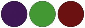 Color Scheme with #3E1754 #439834 #6B1111