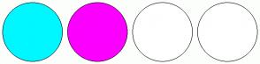 Color Scheme with #00F7FF #FC00FF #FFFFFF #FFFFFF