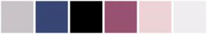 Color Scheme with #C9C3C8 #374675 #000000 #995171 #EDD3D6 #F0EDF0