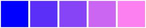 Color Scheme with #0000FF #5C2FF9 #8744F7 #CB66F3 #FD80F0