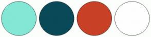 Color Scheme with #83E7D5 #0A4958 #C84127 #FEFEFE