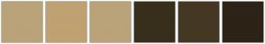 Color Scheme with #BAA378 #C0A172 #BAA378 #382E1C #453823 #2C2416