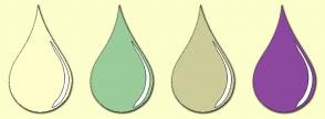 Color Scheme with #FFFFCC #99CC99 #CCCC99 #8C489F