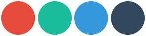Color Scheme with #E74C3C #1ABC9C #3498DB #34495E