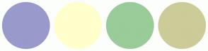 Color Scheme with #9999CC #FFFFCC #99CC99 #CCCC99