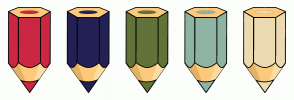 Color Scheme with #CC2742 #242055 #617339 #8FB4A3 #ECDAB2