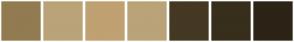 Color Scheme with #927B51 #BAA378 #C0A172 #BAA378 #453823 #382E1C #2C2416