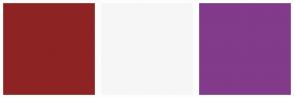 Color Scheme with #8E2323 #F6F6F6 #823A8B