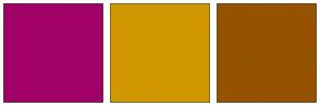 Color Scheme with #A10067 #D19700 #955300