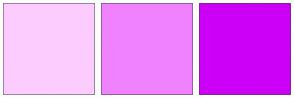 Color Scheme with #FCCCFF #F082FF #CD00F7