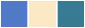 Color Scheme with #517AC7 #FAE9C4 #387B93