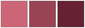 Color Scheme with #CC6677 #994455 #662233