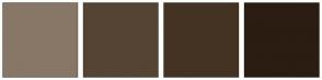 Color Scheme with #887766 #554433 #443322 #2B1D11