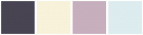 Color Scheme with #484452 #F8F2DA #C7AFBD #DDECEF