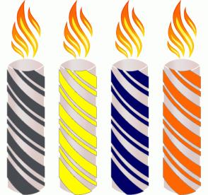 Color Scheme with #484B50 #FFFB00 #000066 #FF6600