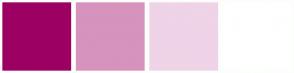 Color Scheme with #9C0063 #D693BD #EFD3E7 #FFFFFF