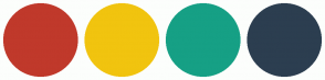 Color Scheme with #C0392B #F1C40F #16A085 #2C3E50