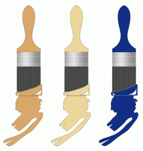 Color Scheme with #D9A76A #EBD79B #132F85