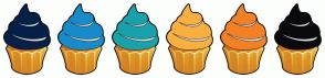Color Scheme with #052049 #178CCB #18A3AC #FBAF3F #F48024 #0B0A0D