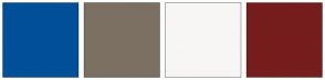 Color Scheme with #005099 #7C7062 #1A62A3 #B4A28F #F7F6F4 #E0EAF4 #761D1D