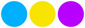 Color Scheme with #00B0FF #F7E500 #B800FF