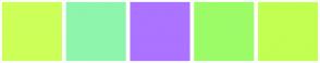 Color Scheme with #CDFF59 #8EF5AD #AB73FF #9CFC68 #C2FF52