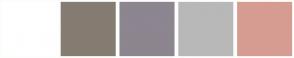 Color Scheme with #FFFFFF #857C72 #8D858F #B8B8B8 #D69C92