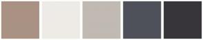 Color Scheme with #A99284 #EEEBE7 #C0BAB2 #4F515A #38353A