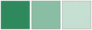 Color Scheme with #2E8A5C #8ABEA4 #C5DFD2