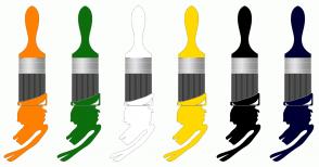 Color Scheme with #FF8000 #0C6E0C #FFFFFF #FFD900 #000000 #000033