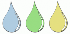 Color Scheme with #AFCCE1 #98DD82 #E5E080