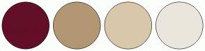 Color Scheme with #630F28 #B39774 #D9C7AB #EBE6DD