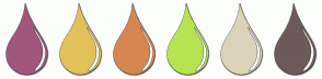 Color Scheme with #A1577B #E3C15B #D68751 #B7E352 #DBD3BA #6E5A5A