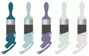 Color Scheme with #246373 #ABCACC #7A7596 #D1E8D9 #E6DFE0