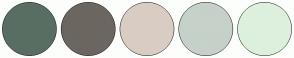 Color Scheme with #596E63 #6B6760 #D9CDC3 #C5D1C9 #DDF0DD