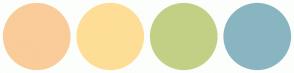 Color Scheme with #FACC99 #FEDE96 #C2D086 #89B5C1