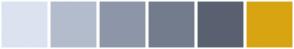 Color Scheme with #DBE3F0 #B3BCCC #8D96A8 #737C8C #596171 #D8A412