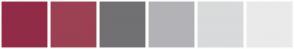 Color Scheme with #922C46 #9C4053 #717174 #B3B3B7 #D9DADB #EAEAEB
