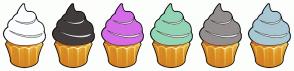 Color Scheme with #FCFEFF #423C3C #E8D46B #81B099 #948E8E #A8C8D4