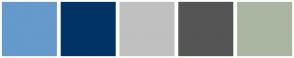 Color Scheme with #6699CC #003366 #C0C0C0 #555555 #AAB6A2