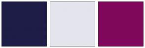 Color Scheme with #1D1D47 #E4E4ED #80085C