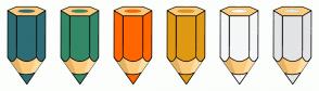 Color Scheme with #2E6D76 #338967 #FF6600 #DF9912 #F6F7F8 #E3E4E5